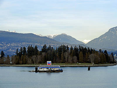 Photograph - Vancouver Energy Afloat by Robert Meyers-Lussier