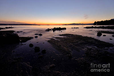 Photograph - Vancouver English Bay Sunset 1 by Terry Elniski