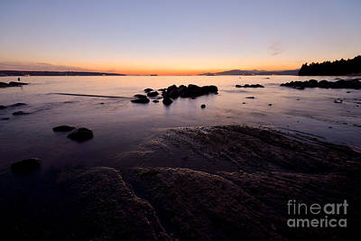 Photograph - Vancouver English Bay Sunset 2 by Terry Elniski