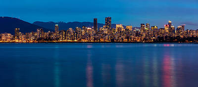 British Columbia Photograph - Vancouver From Jericho At Dusk by Pierre Leclerc Photography