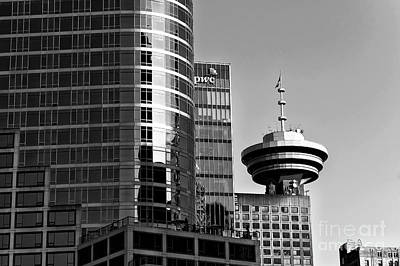 Photograph - Vancouver Glass Mono by John Rizzuto
