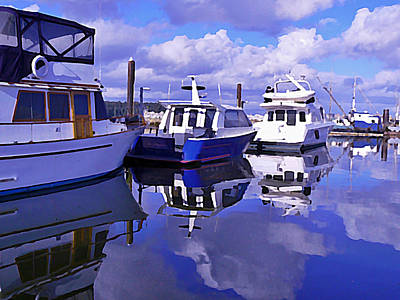 Photograph - Vancouver Harbour Reflections by Barbara St Jean