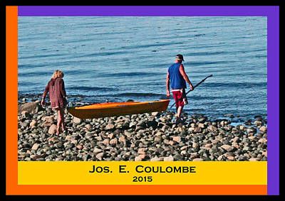Digital Art - Vancouver Island - British Columbia  Kayaking by Joseph Coulombe