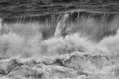 Photograph - Vancouver Island Crashing Waves Black And White by Adam Jewell