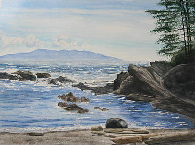 Vancouver Island Art Print by Monika Degan