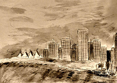 Vancouver Drawing - Vancouver by Jerry Killian