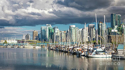 Photograph - Vancouver Marina by Jerry Fornarotto