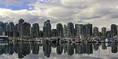 Photograph - Vancouver Marina by Walter Fahmy