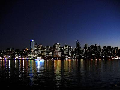 Vancouver Night Lights Print by Will Borden