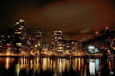 Photograph - Vancouver Nights by Wayne King
