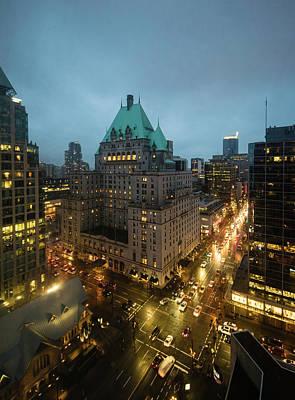 Photograph - Vancouver Nocturne by Steven Richman