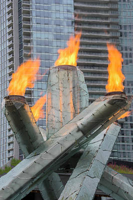 Photograph - Vancouver Olympic Cauldron by Ross G Strachan