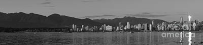 Photograph - Vancouver Panorama Black And White by John  Mitchell