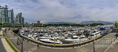 Yacht Photograph - Waterfront Of Vancouver. by Viktor Birkus