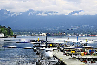 Photograph - Vancouver Seaplane Tour Terminals by Charline Xia