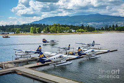 British Columbia Photograph - Vancouver Seaplanes by Inge Johnsson