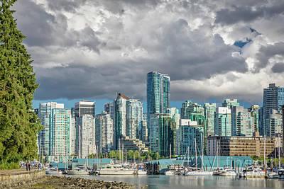Global Design Shibori Inspired - Vancouver Skyline 1 by Jerry Fornarotto