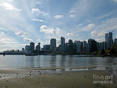 Photograph - Vancouver Skyline 2015 At Stanley Park II by Connie Fox