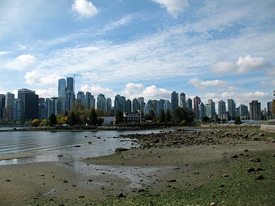 Olympic Sports - Vancouver Skyline 2015 From Stanley Park by Connie Fox