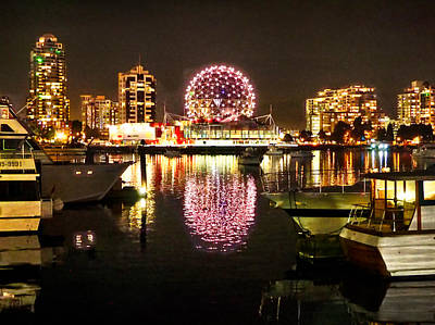 Photograph - Vancouver Skyline Around Science World by C H Apperson