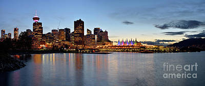 Photograph - Vancouver Skyline At Crab Park by Terry Elniski
