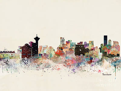 Painting - Vancouver Skyline by Bleu Bri