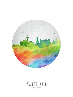 British Digital Art - Vancouver Skyline Cabcva20 by Aged Pixel