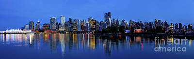Photograph - Vancouver Skyline Panorama 2017 From Stanley Park by Terry Elniski