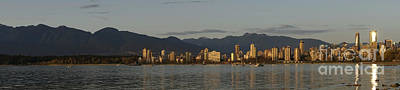 Photograph - Vancouver Skyline Panorama by John  Mitchell