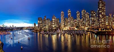 Vancouver Skyline Art Print by Rod Jellison