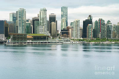 Aerial View Photograph - Vancouver Skyline. View Of Downtown Vancouver, Canada by Dani Prints and Images
