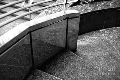 Photograph - Vancouver Stair Curves Mono by John Rizzuto