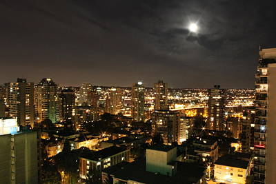 Vancouver At Night Photograph - Vancouver State Of Mind by Angie Wingerd