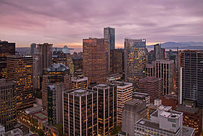 Photograph - Vancouver Sunset - 365-228 by Inge Riis McDonald