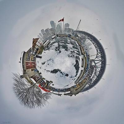 Vancouver Winter Planet Art Print by Mauricio Ricaldi