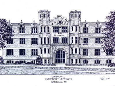 Drawing - Vanderbilt-furman Hall by Frederic Kohli