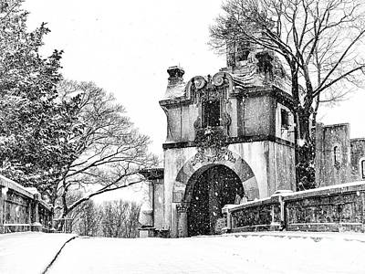 Photograph - Vanderbilt Mansion In The Snow by Alissa Beth Photography