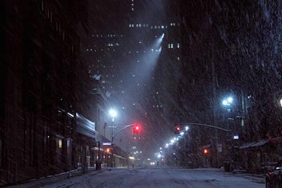 Vanderbilt Street Near Grand Central Snow Storm Manhattan New York Original