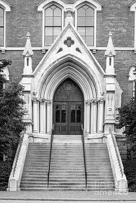 Vanderbilt University Kirkland Hall Entrance Art Print by University Icons