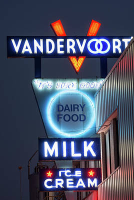 Photograph - Vandervoort's Neon Fort Worth V2 060618 by Rospotte Photography