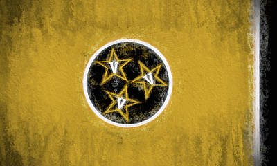 Digital Art - Vandy Tennessee State Flag by JC Findley