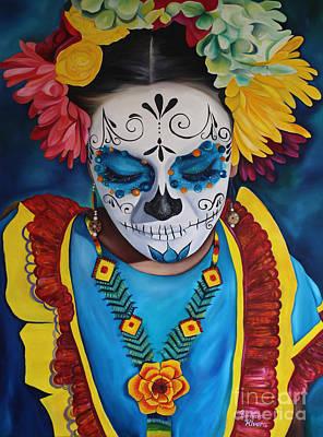 Mexicano Painting - Vanessa by Barbara  Rivera