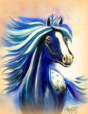 Peruvian Horse Painting - Vanessa Beige by Karen Mask