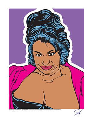 Del Rio Digital Art - Vanessa Del Rio - Queen Of Harlem I by Clas Thomas Svensson
