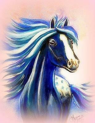 Peruvian Horse Painting - Vanessa Mauve by Karen Mask