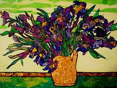 Painting - Vangogh Iris Montage by Laura  Grisham