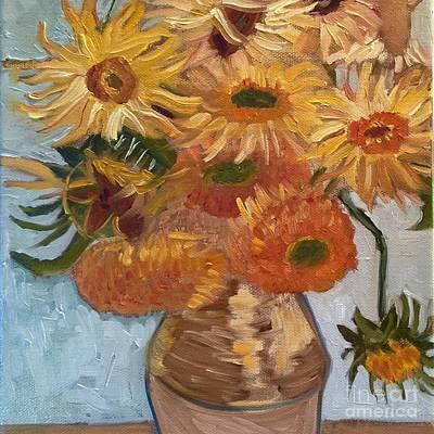 Vangogh Sunflowers Original by Suzanne Roberts