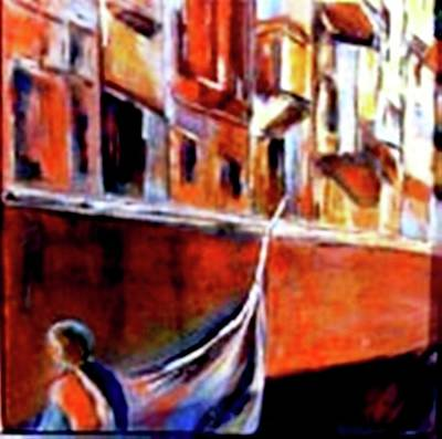 Painting - Vanice Canal Cruise 2 by Miki Sion