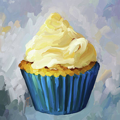 Vanilla Cupcake Art Print by Jai Johnson