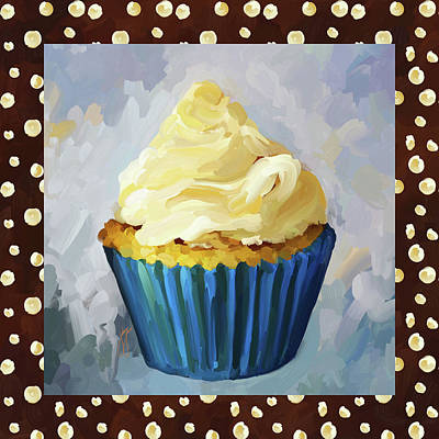 Painting - Vanilla Cupcake With Border by Jai Johnson